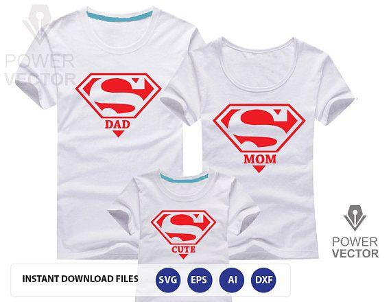 Super Hero Family Super Dad Super Mom Super Cute Super Etsy In 2020 Super Mom Tshirt Family Shirts Matching Super Mom