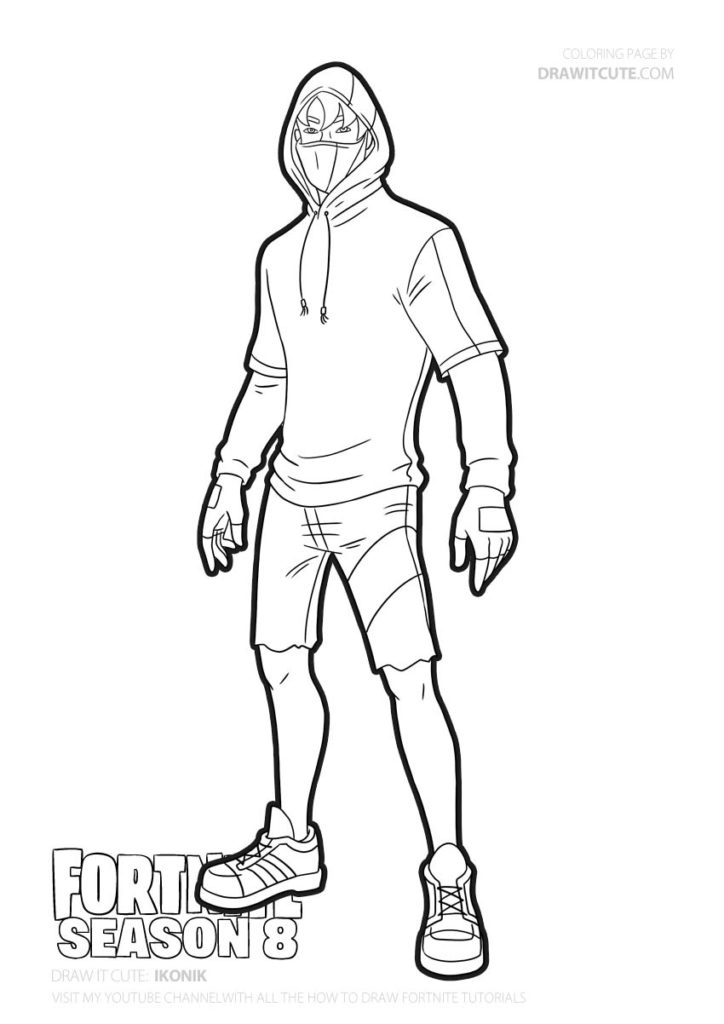 Ikonik Fortnite Coloring Page Color For Fun Coloring Pages Coloring Pages For Boys Cute Coloring Pages