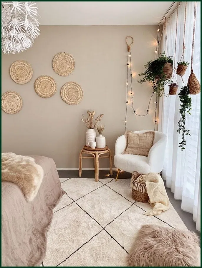 The Texture In This Room Make It Really Calming And Smooth Even With The Different Shapes Presented In 2020 Room Decor Bedroom Home Decor Aesthetic Room Decor