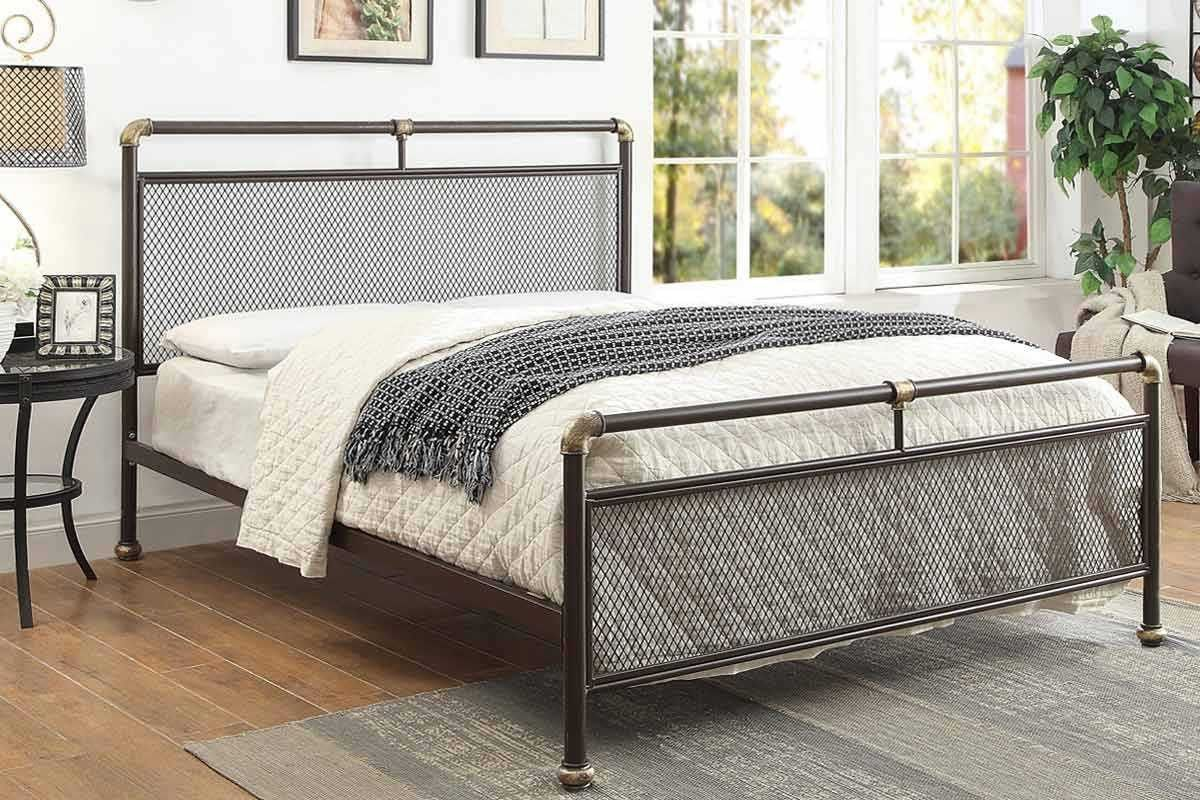 Cambridge Industrial Scaffold Style Pipe Metal Bed Frame Single