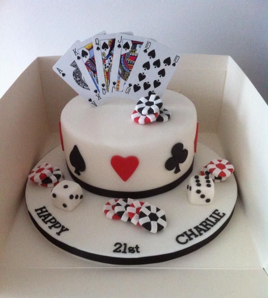Cards Cake Cakedesign Birthday Food And Drink Poker