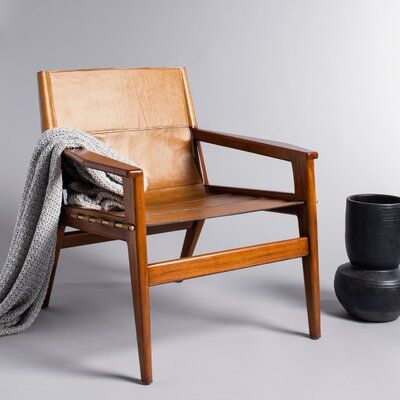 Digby Leather Sling Chair | Joss & Main