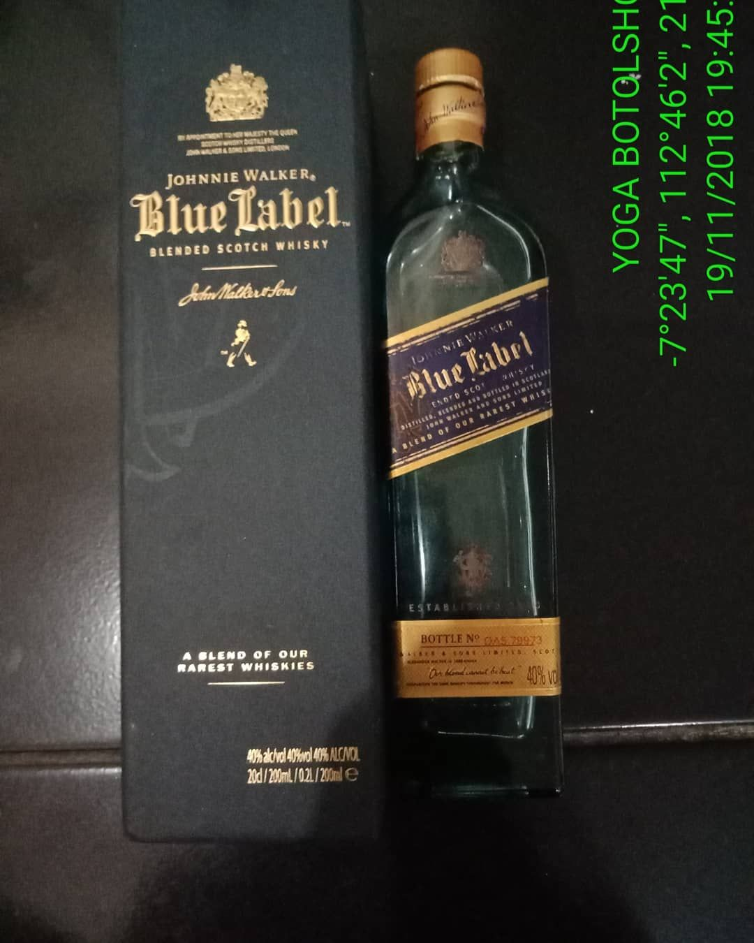 Johnnie Walker Blue Label 200 Ml Botol Minuman Keras Minuman