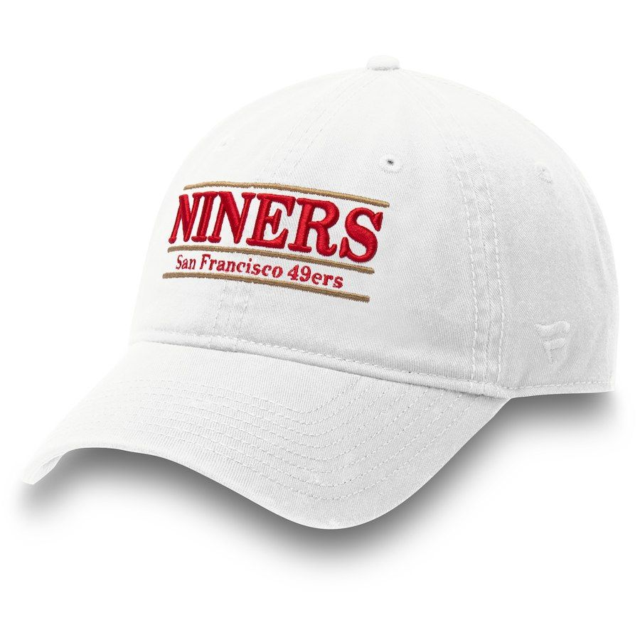 752a1cba6f4 Men s San Francisco 49ers NFL Pro Line by Fanatics Branded White Niners  Nickname Bar Adjustable Hat