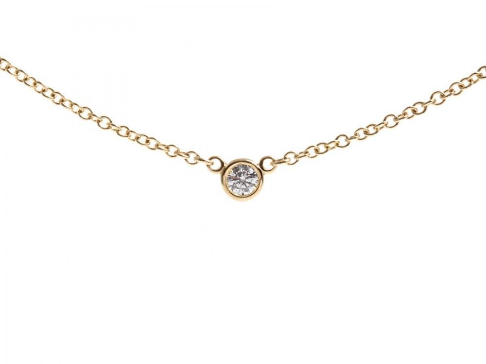 Authentic Tiffany & Co. By The Yard Necklace 18k Yellow Gold Diamond #TiffanyCo #Chain