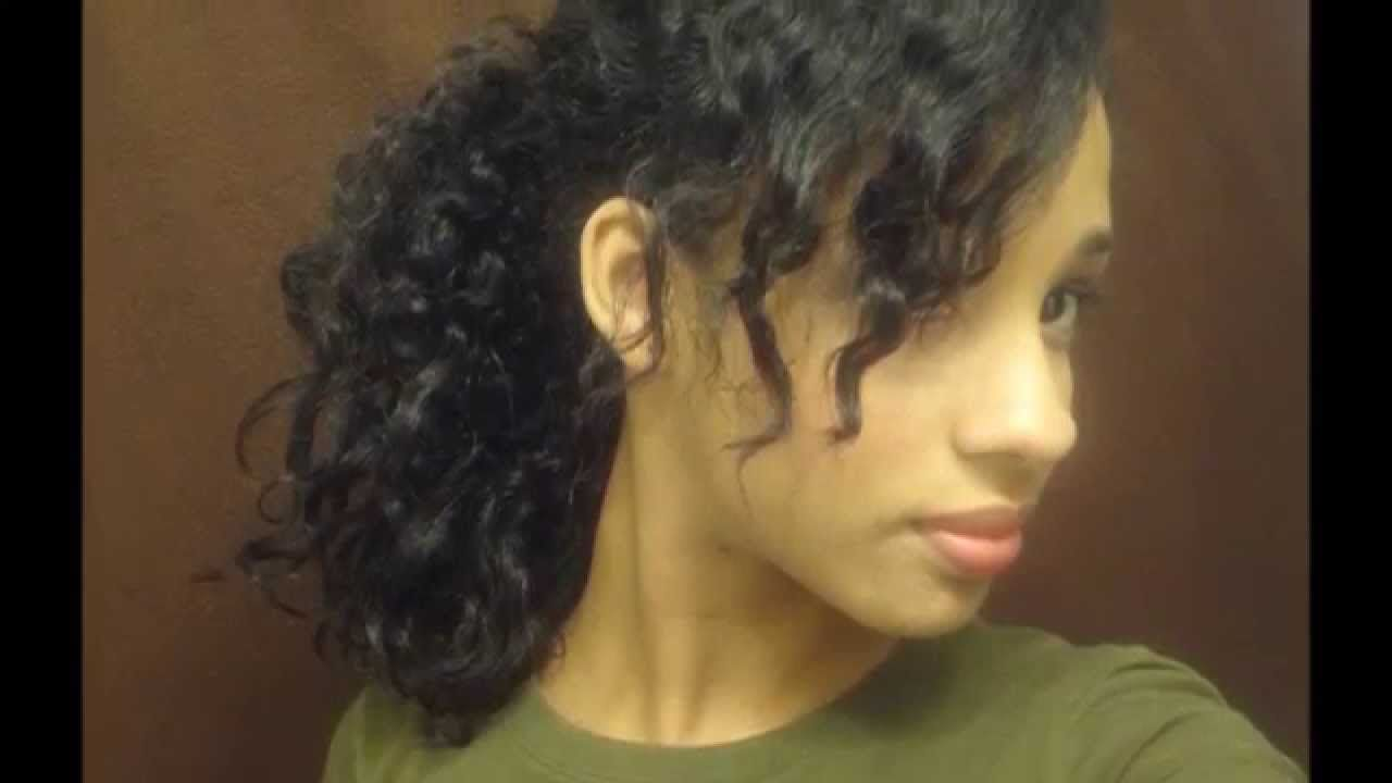 quick easy hairstyles for thick curly hair i like the way she