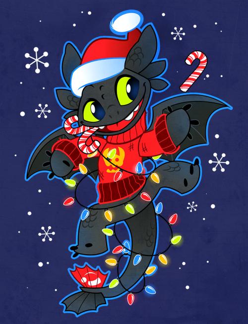 toothless for christmas toothless for christmas toothless dragon christmas wallpaper how to train your - How To Train Your Dragon Christmas