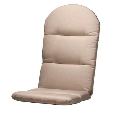 Home Decorators Collection 49 In. Dia Heather Beige Sunbrella Montauk  Adirondack Outdoor Chair Cushion