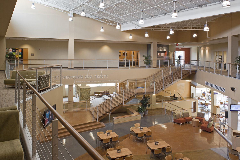 Atrium ohio dominican university student center atrium - Interior design schools in boston ...