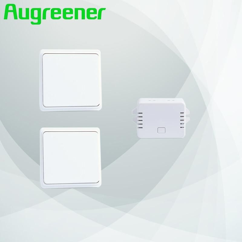 Augreener New 2 Buttons 1 Receiver Wireless Switch Remote