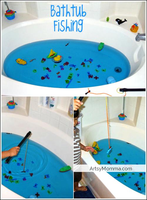 Bathtub Fishing- Make your own fishing game! | Bathtubs, Boredom ...