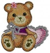 Teddy Gift Design free animal all free embroidery designs download
