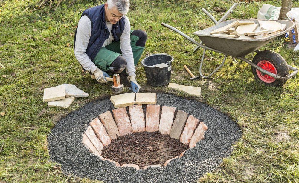 Eine Feuerstelle selber bauen: So geht's #campfire
