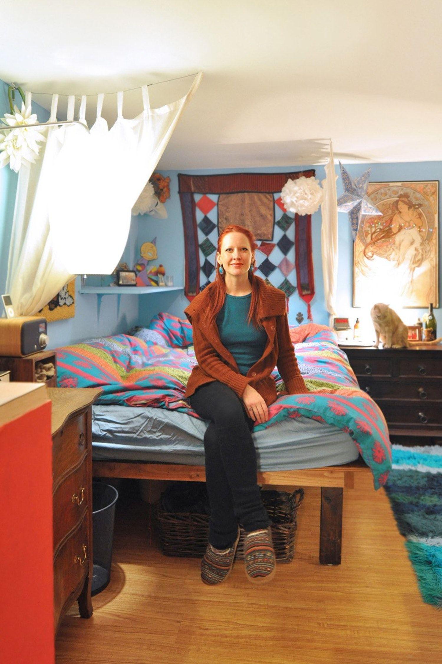 Laura Lee's Bright & Playful Basement Studio Basement
