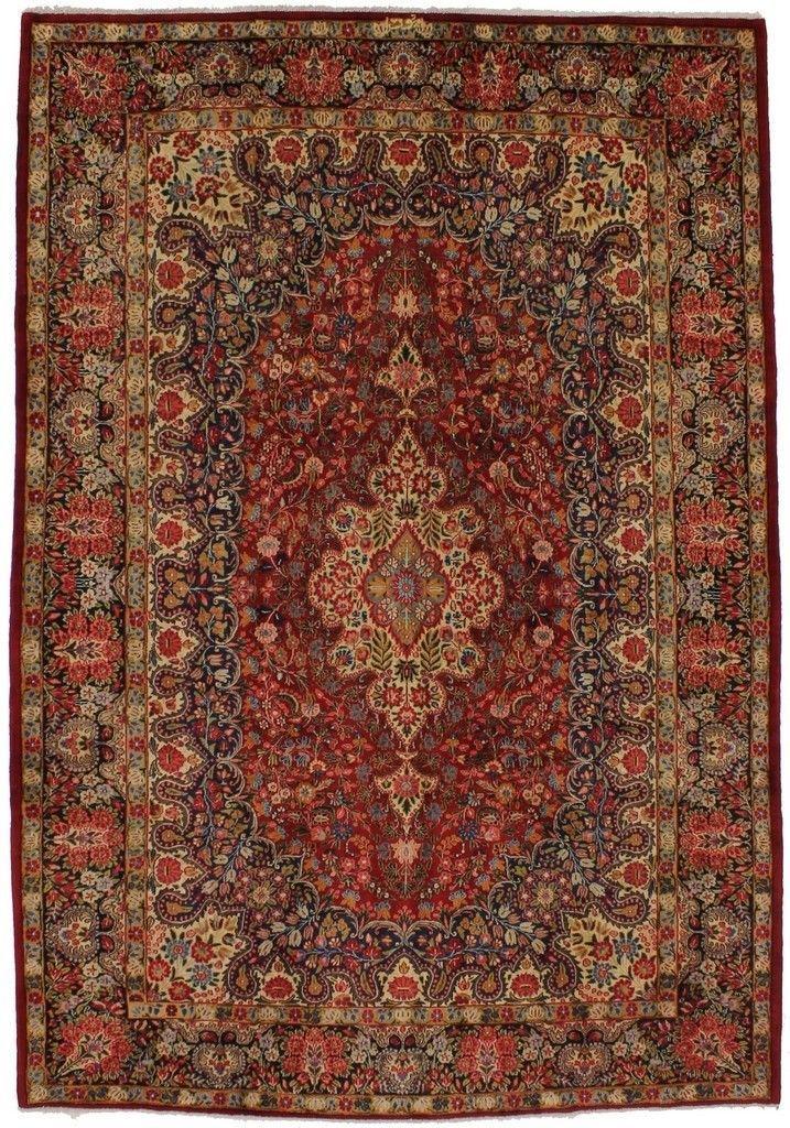 Antique Birjand Persia Rug Oriental Area Carpet 7X10