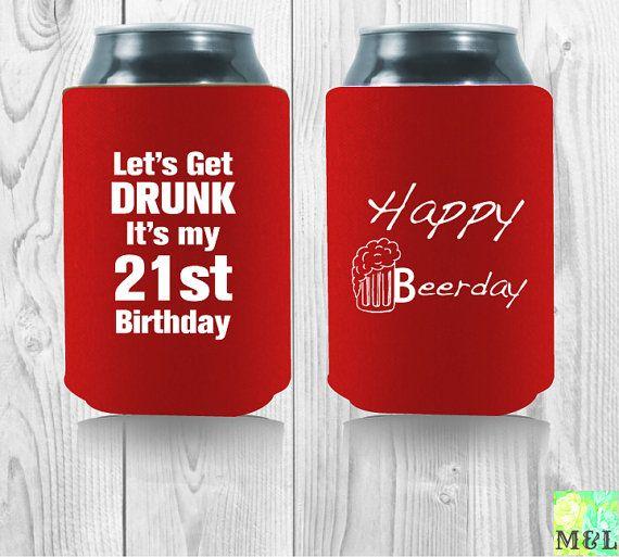 Personalized 21st Birthday Koozie