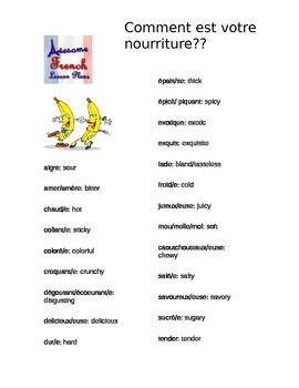 French Food Adjectives Adjectives Learn A New Language French Adjectives