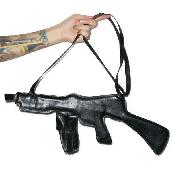 RASTA IMPOSTA Tommy Got Yer Gun Purse ($25) ❤ liked on Polyvore featuring bags, handbags, white purse, white handbags, shoulder strap purses, real leather purses and shoulder strap handbags
