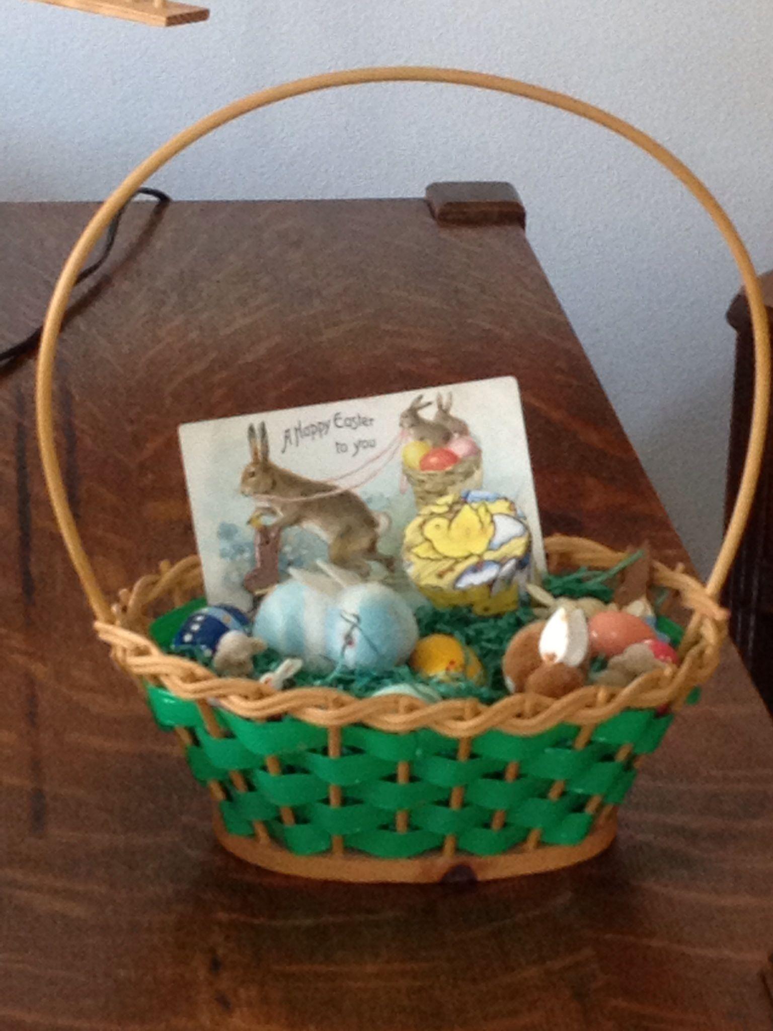 Vintage Easter basket from the 50s. | Vintage | Pinterest