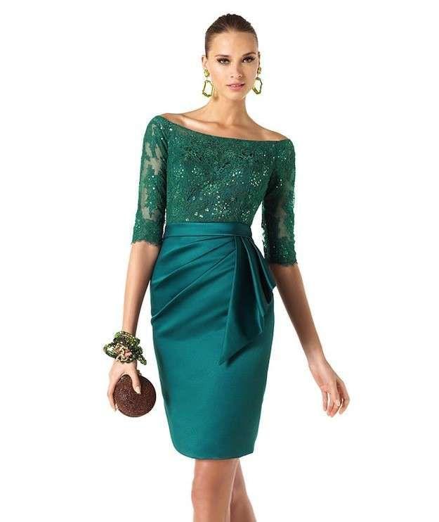 Combinar un vestido verde para una boda