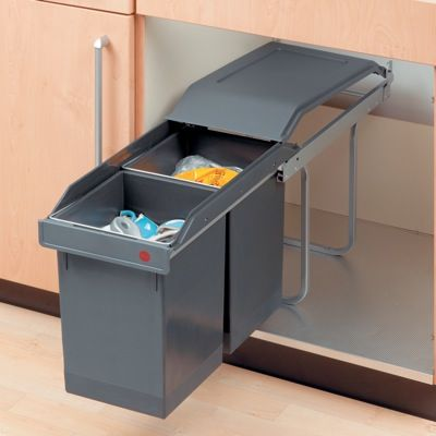 Plastic Sliding Wastebin 2 X 3650100 At Richelieu Hardware Recycling Utility Storage Cabinet Kitchen Storage