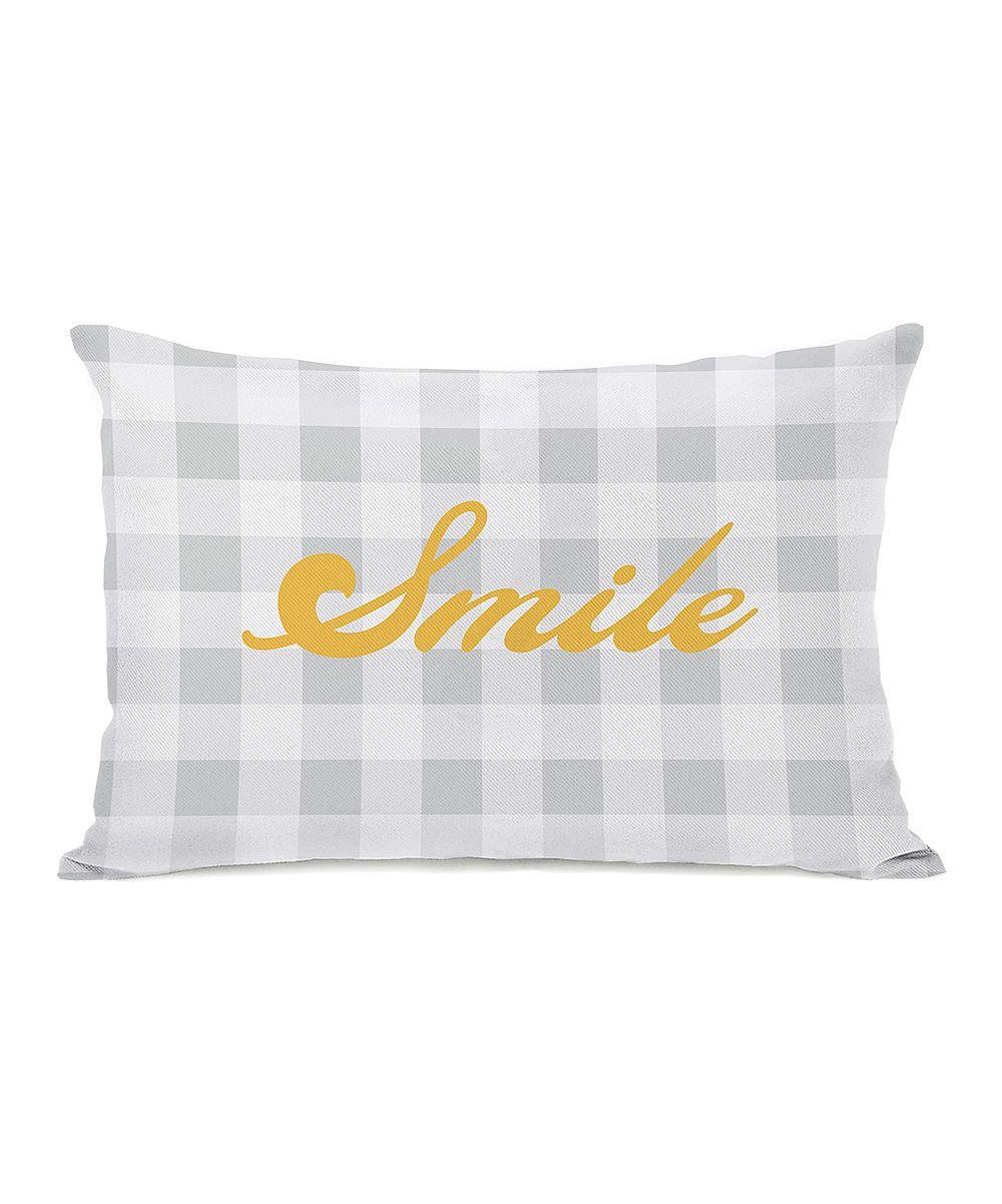 Gray & Mimosa 'Smile' Throw Pillow //  OneBellaCasa