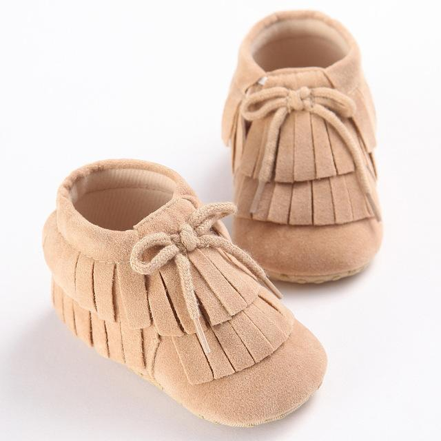 Tan Baby Suede Moccasins