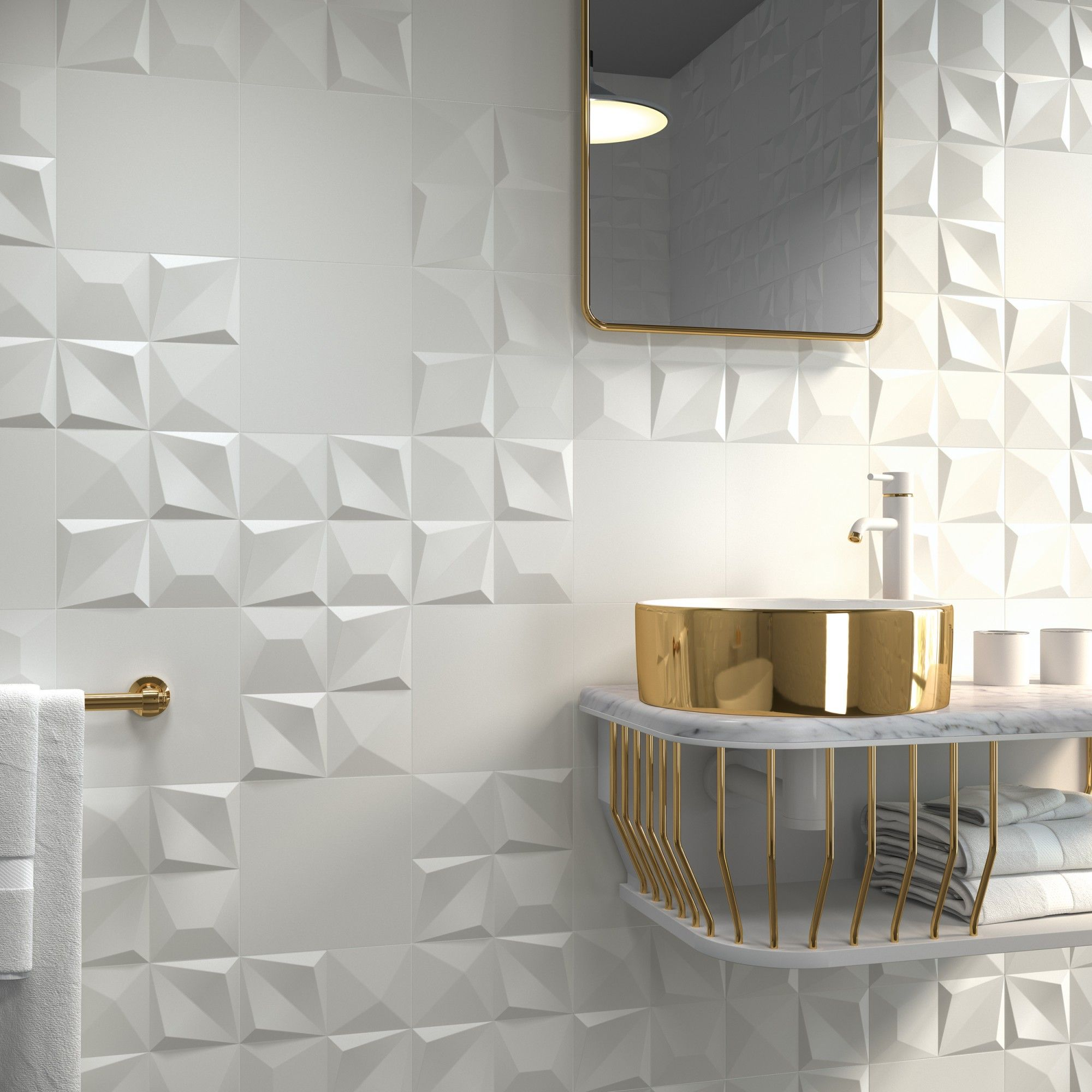 Badgestaltung ohne wanne  lavabo white and gold  bad in   pinterest  baños