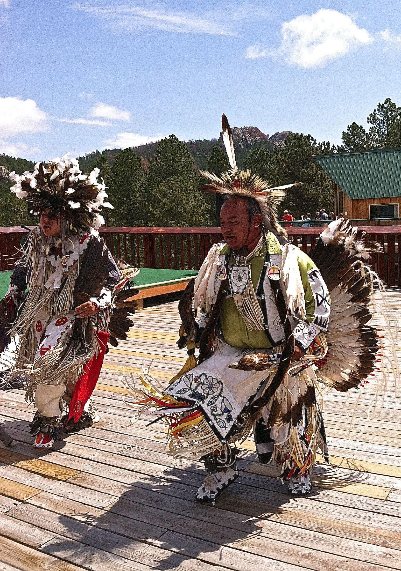 Lakota Dancers At The Crazy Horse Monument Sd