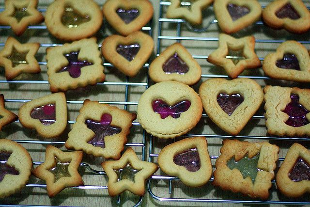Christmas Stained Glass Cookies by wenday :D, via Flickr
