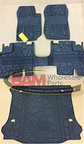 2016 2017 Jeep Wrangler Unlimited 4 Door Slush Mats Cargo
