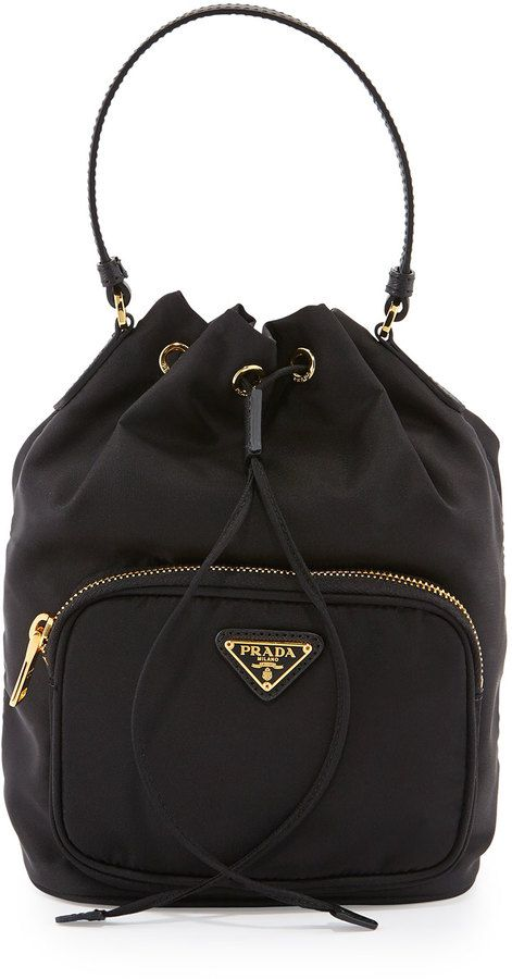 ca398437f0 Prada Tessuto Mini Bucket Crossbody Bag
