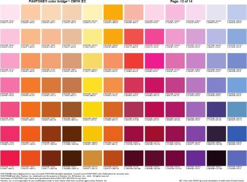 Pantone Colour Bridge CMYK Cheat Sheets 6 Color Reference Cheat – Sample Cmyk Color Chart