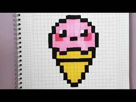 Glace Kawaii En Pixel Art Tuto Facile Glace Pixel Pixel Art Pokemon Pixel Art Pixel Art Kawaii