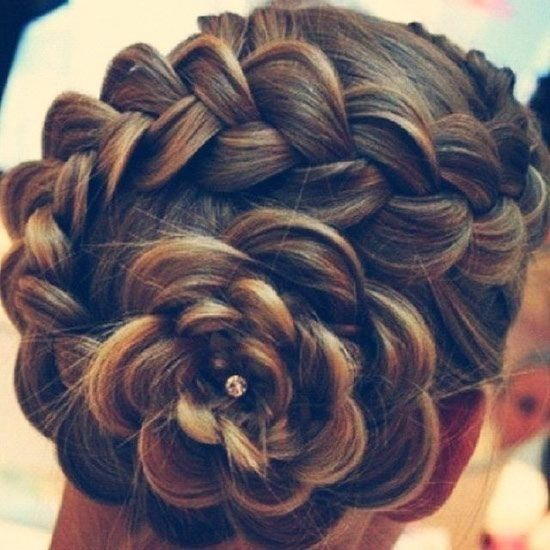 Dutch Flower Braid Hair Styles Braided Hairstyles Braided Prom Hair