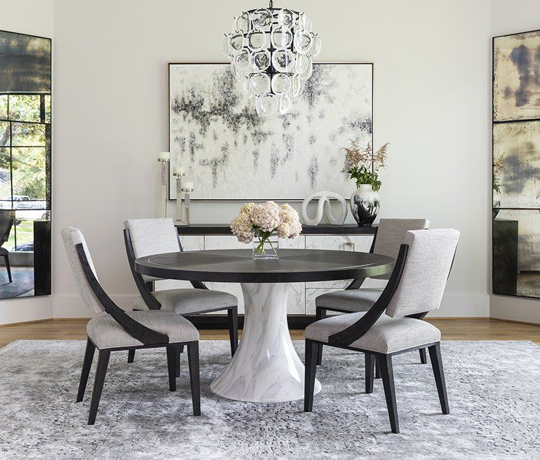 High Fashion Home Is The Premier Destination For Unique Home Furnishings Fashion And Gifts Round Dining Room Sets Elegant Dining Room Round Dining Room Table