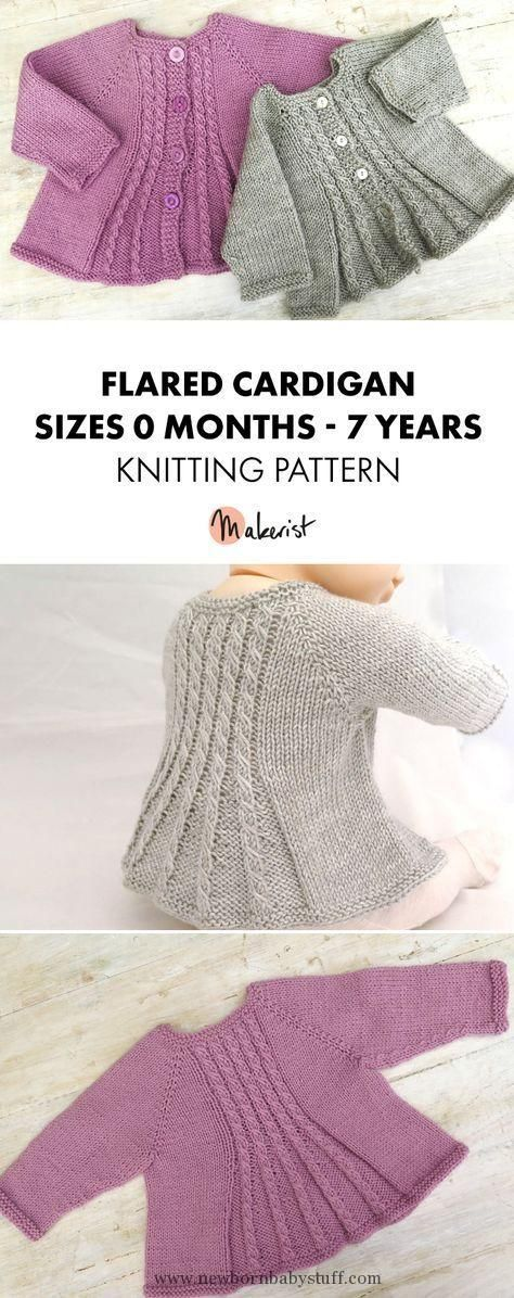 8de6a2c00e99 Baby Knitting Patterns Cable Knit Elizabeth Coat Free Pattern - Knit Baby  Sweater O..