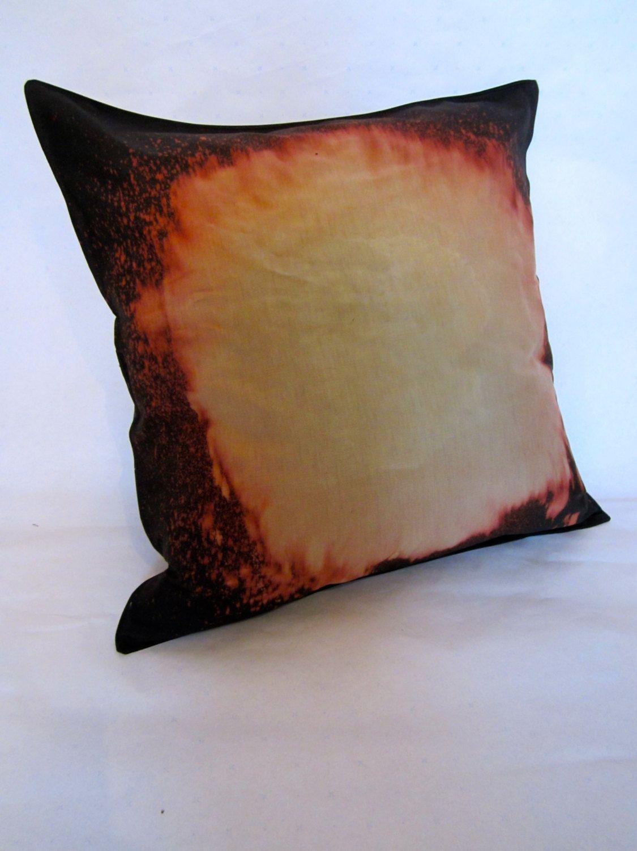 Bleach dye large black satin cushion via etsy to dye for