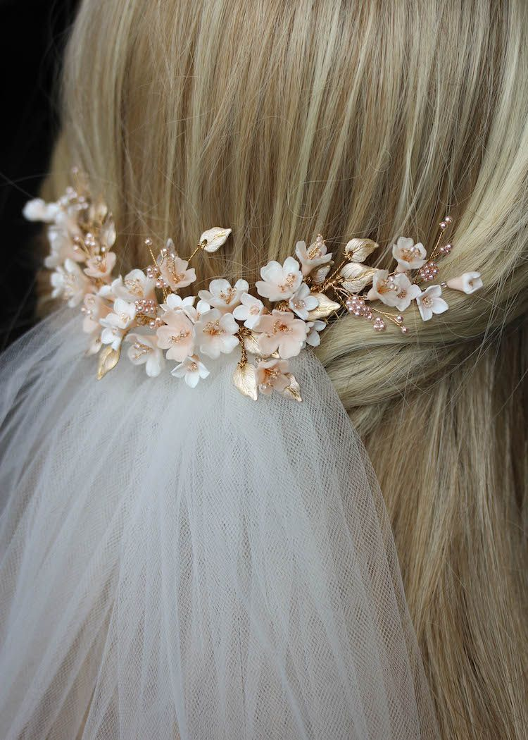Blush Blossoms | A floral wedding headpiece for Tristan -
