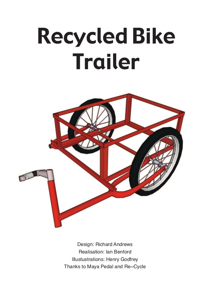 How To Build A Bike Trailer Diy Fahrradanhänger Selbst Bauen