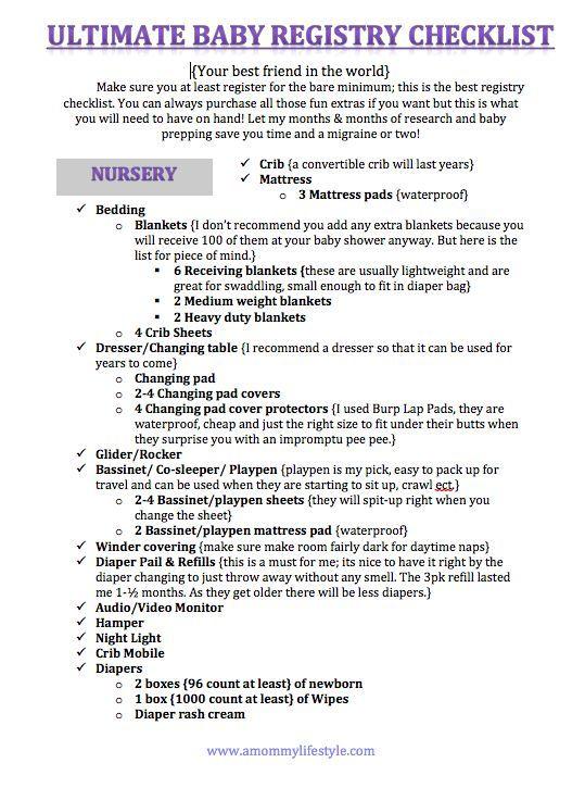ultimate baby registry checklist - Ozilalmanoof