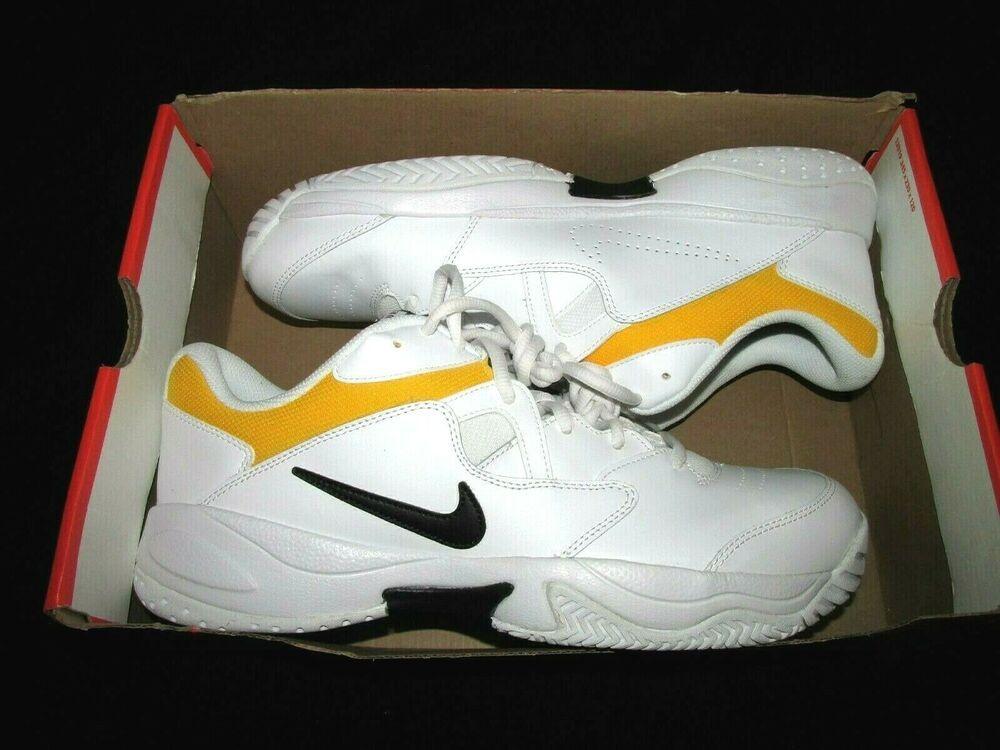 Nike Court Lite 2 Mens Tennis Shoes 12 White Black Nike Tennisshoes Nike Tennis In 2019 Nike Tennis Nike Sneakers Nike