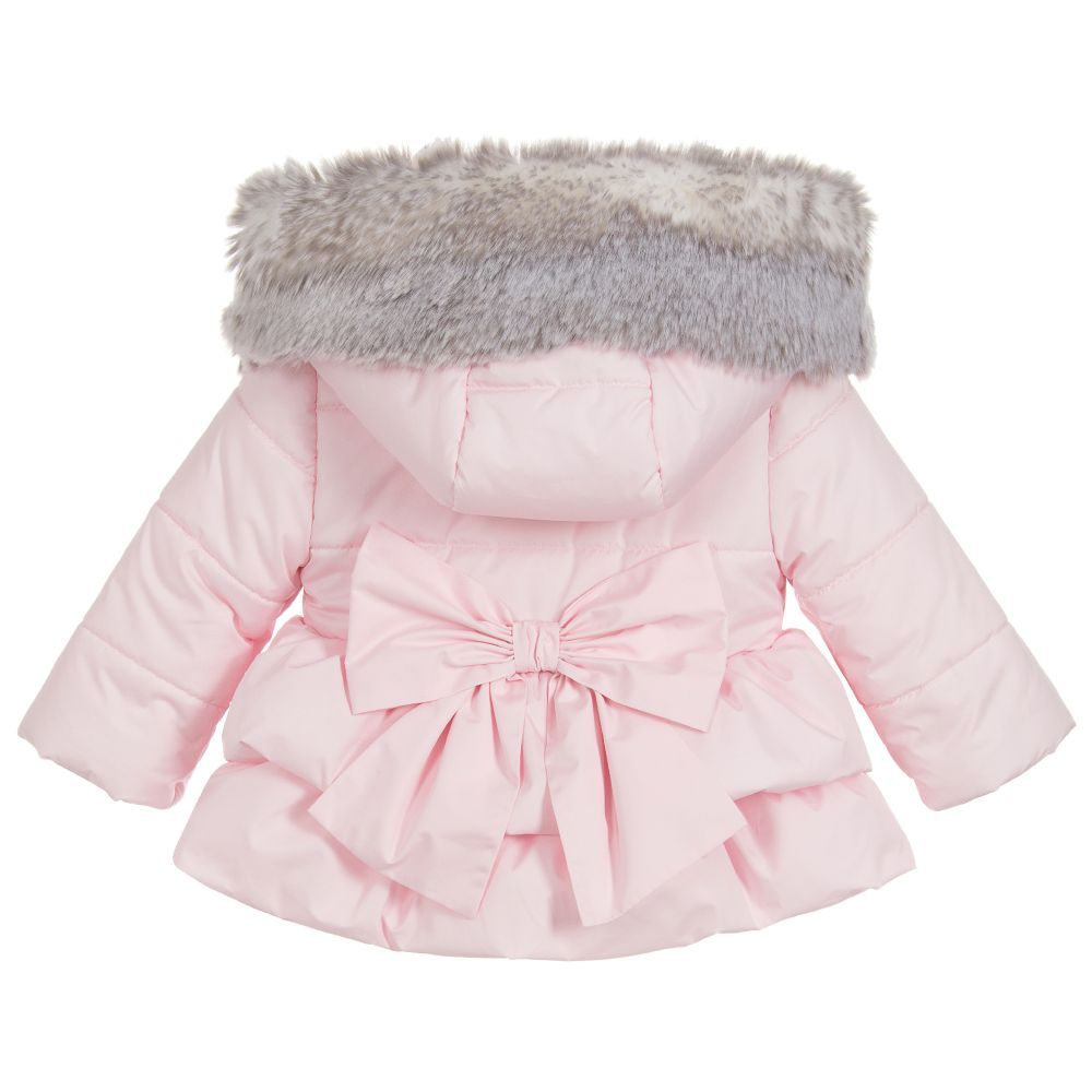 F&F baby girl coat with removable fur trim Depop