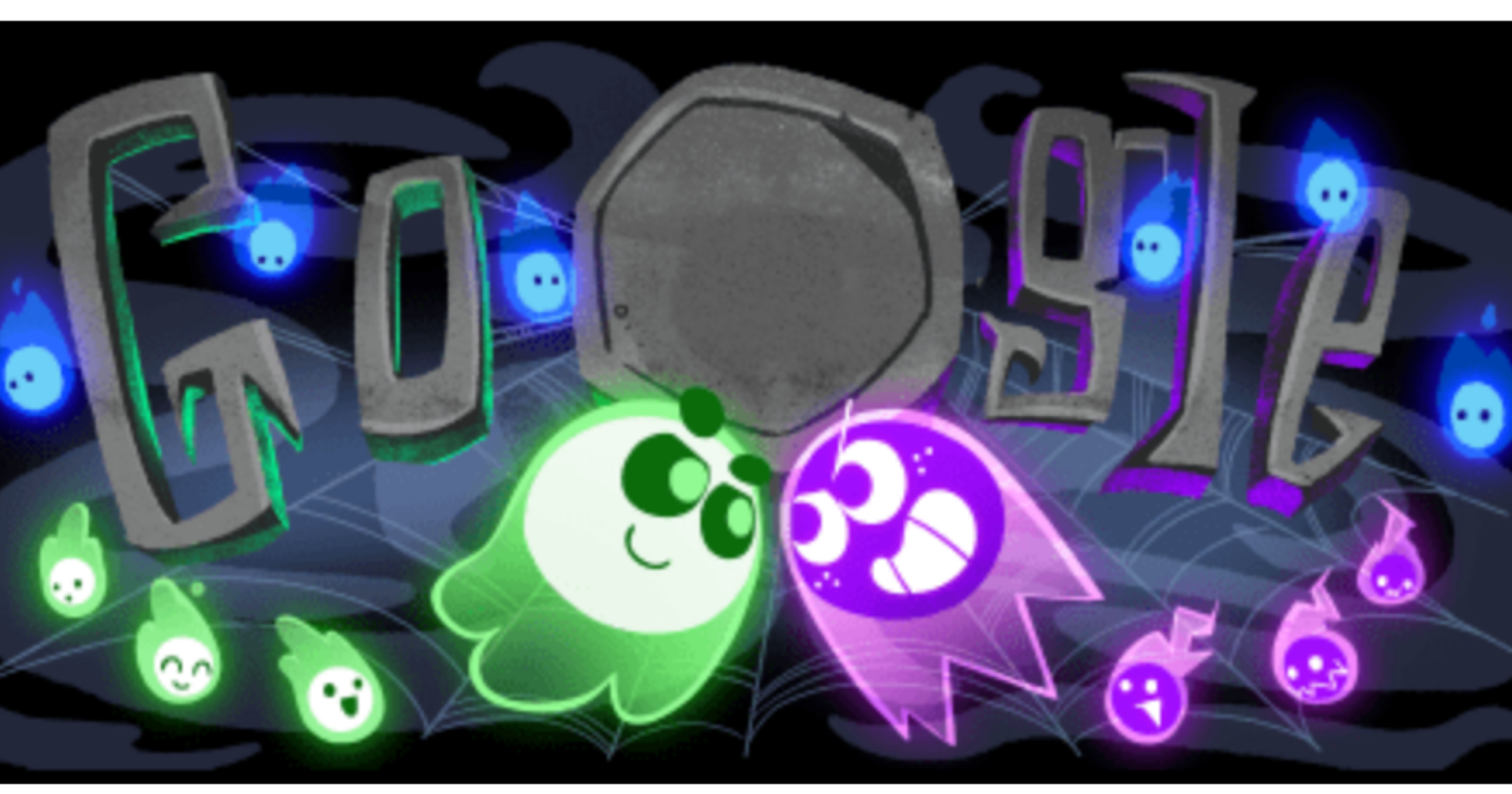 Google Celebrates Halloween With First Ever Multiplayer Google Doodle Google Doodles Google Doodle Halloween Google Halloween