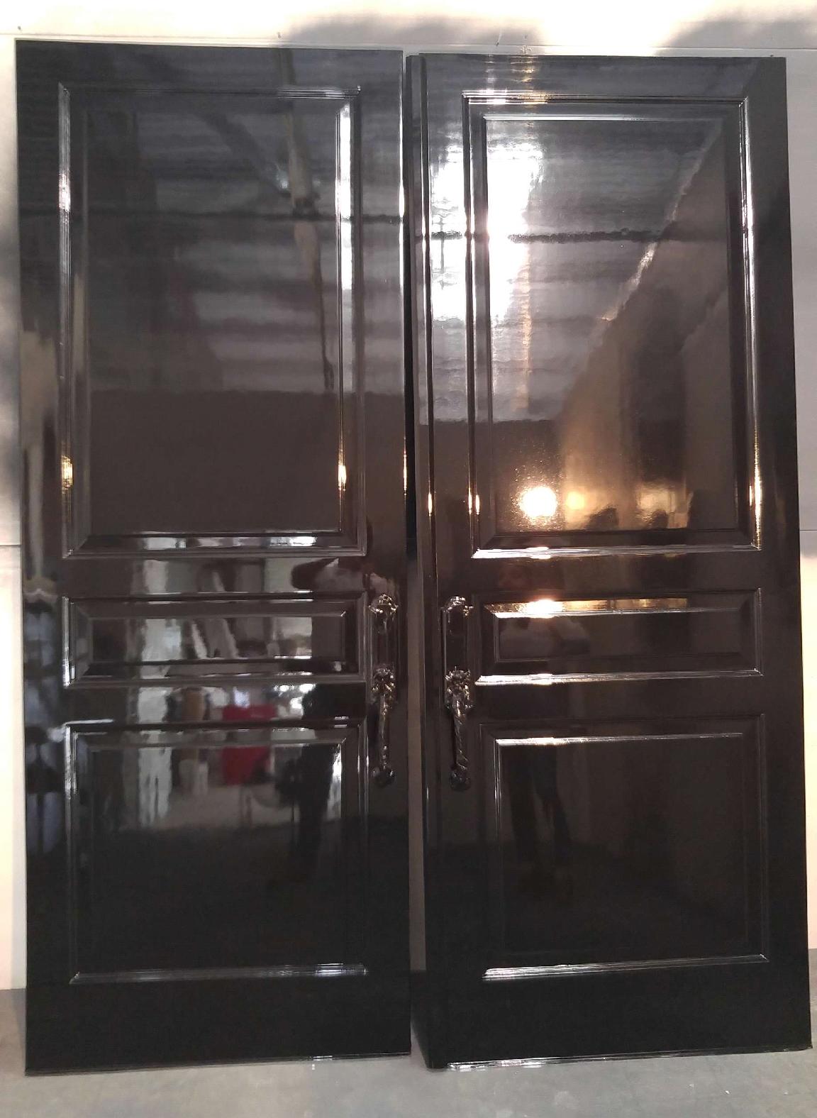 Black High Gloss Front Door Painted Front Doors Fine Paints Of Europe Painting Contractors