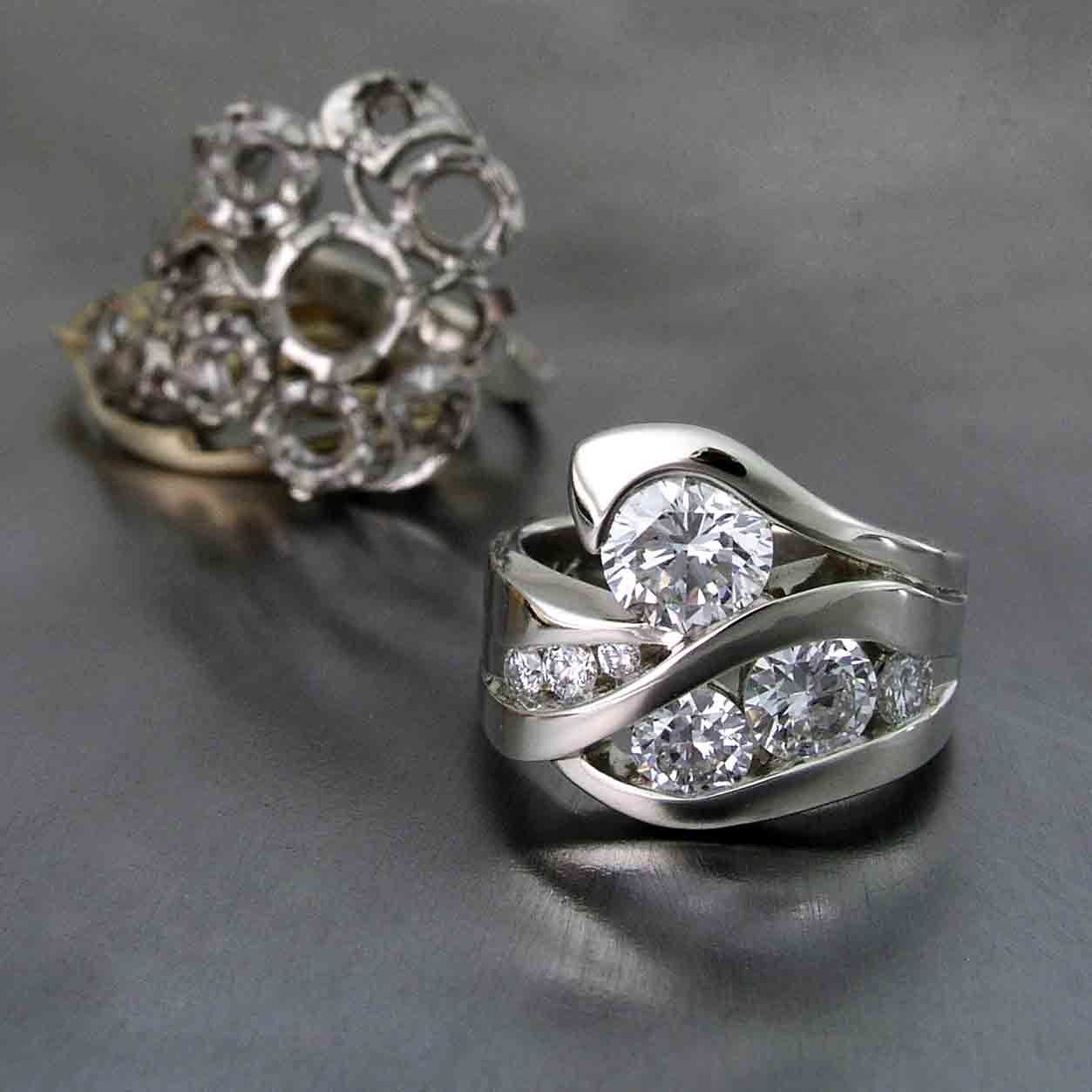 Restyle Using Several Of The Customer's Rings The New Design Turned Out  Gorgeous! Douglas