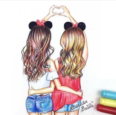 Image result for 5 best friends cartoon character with long ...
