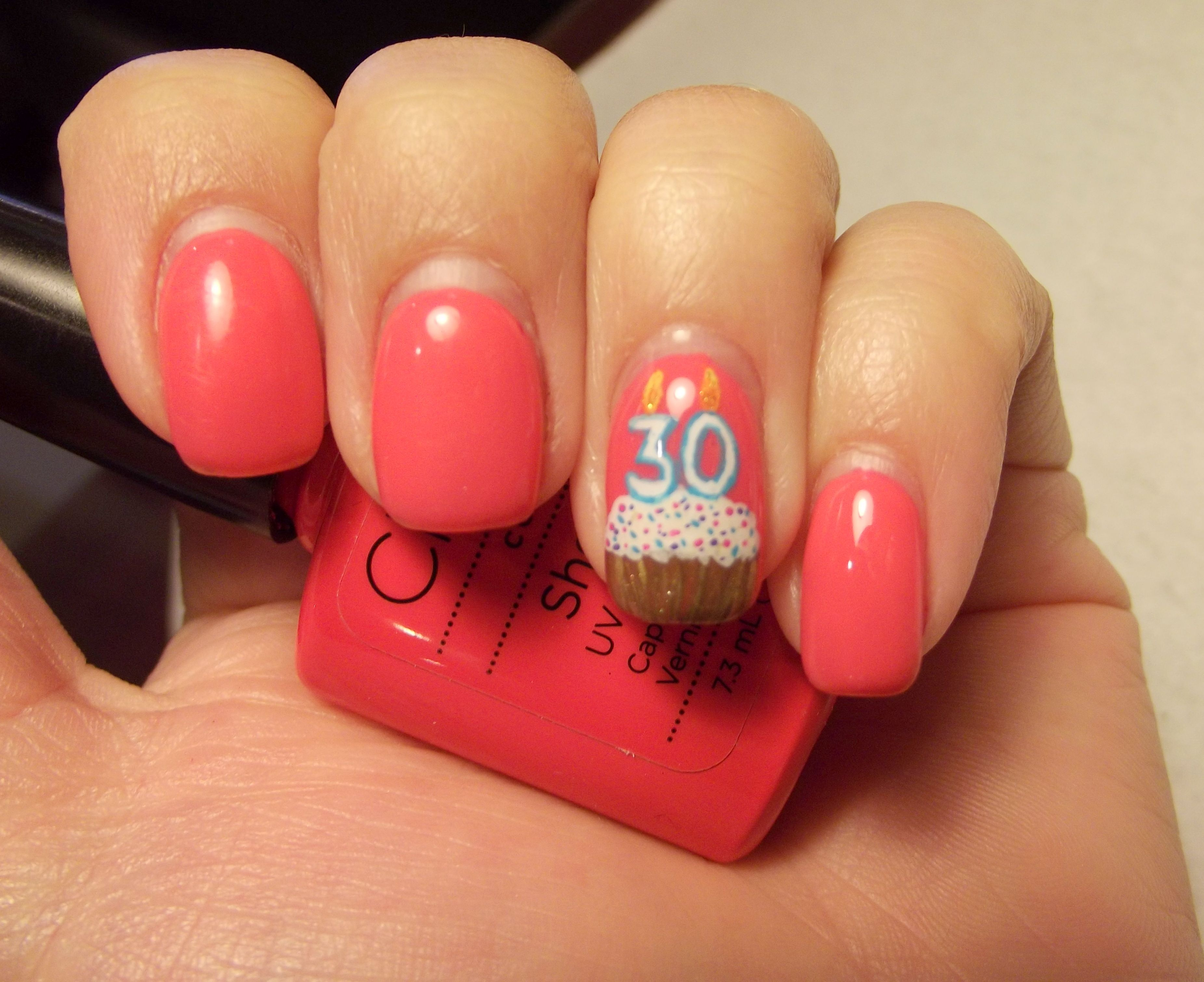 For my 30th Birthday I did a birthday cupcake on my nail My Nail