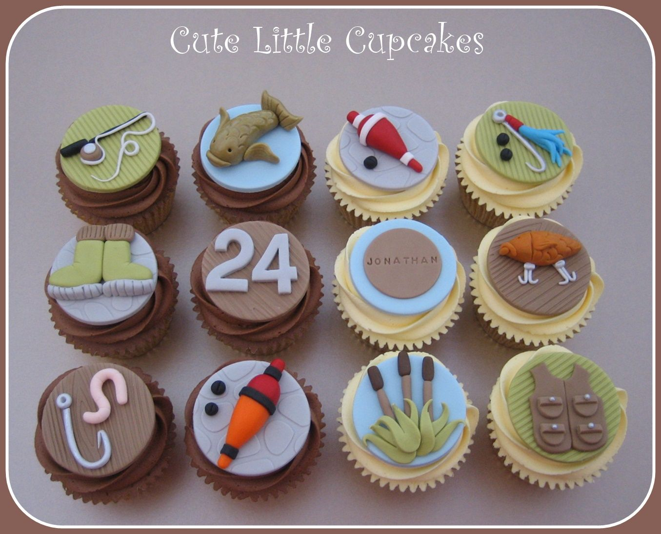Fishing Themed Cupcakes X. Decorated CupcakesCupcakes DecoratingFishing ...