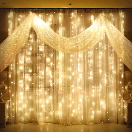 9.8ft x 9.8ft LED Curtain Lights, Starry Christmas String Light, Icicle light, Fairy Light, Curtain light, Decorative Lighting for Room, Garden, Wedding, Christmas, Party - Walmart.com